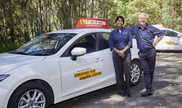 ltrent driving instructors with ltrent car