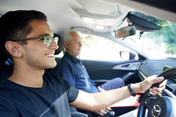 student driving with ltrent instructor