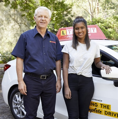 ltrent driving instructor and student