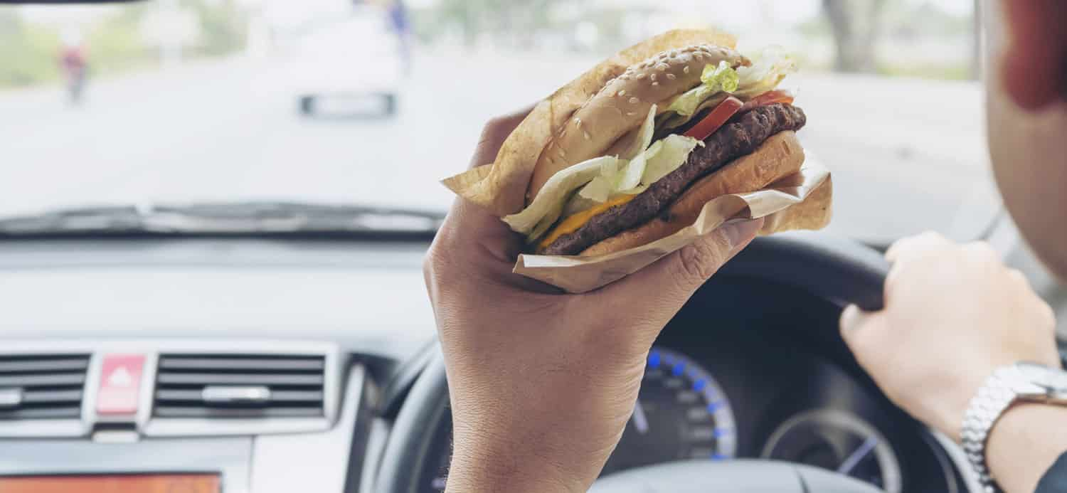 Is It Illegal To Eat & Drive In Australia | LTrent Driving School Blog