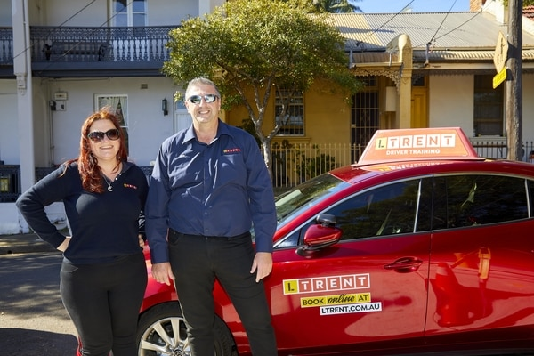 Female and Male LTrent Driving Instructors